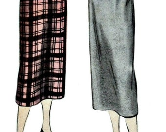 1950 Slim Skirt Pattern with Kick Pleat  VOGUE 3333  1950's Vintage Sewing Pattern  UNCUT, Factory Folded