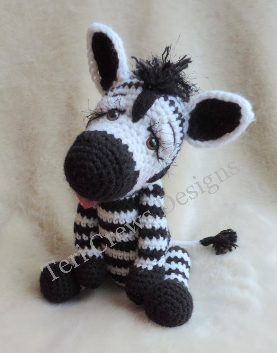 Simply Cute Zebra Crochet Pattern by Teri Crews
