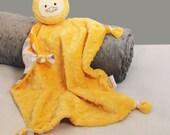 Baby Lovey, Minky Security Blanket in Chevron, Duck, Baby Blanket, Baby Toy, Stuffed Animal, Animal Blanket, Blanket Buddy