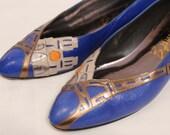 Vintage Blue Paris Margaret J Shoes