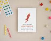 Space Adventure Invitations - Choose Your Colors