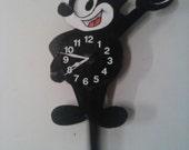 Felix the cat pendulum retro clock with swinging tail