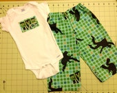 Elvis Lives! Pants and Onesie set, 6-9 months