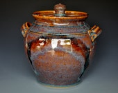 Dark Wine Plum Ceramic Pottery Jar  A