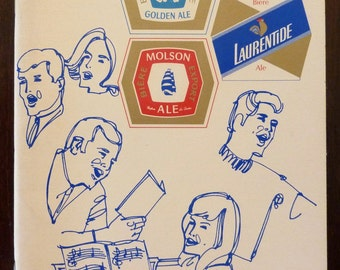 Vintage Molson Canadian Sing Along Book from 1969 - Molson Brewery, Quebec, Canada