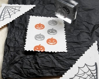 Pumpkin Jack o'Lantern Rubber Stamp - Halloween Mounted Accent