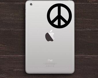 Peace Sign Vinyl iPad Decal BAS-0170