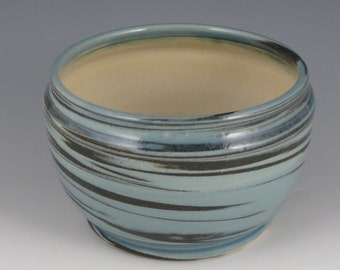 Bowl, blue, marbled, decorative, small serving