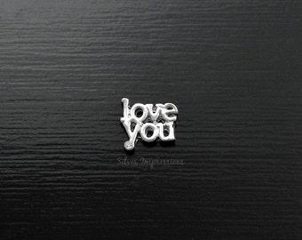 Love You Locket Charm / Floating Locket Charm / Glass Locket Charm