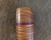Wooden Marble display stand vera wood and purple heart wood