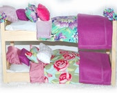 Double Doll Bunk Bed - Lilac Garden American Girl Furniture - Fits 18 inch dolls and AG dolls