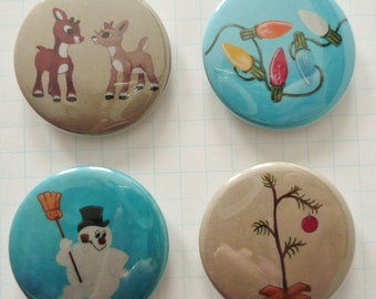 Nostalgic MAGNET Set No.5 ft ORIGINAL PAINTINGS from 100 tiny brushstrokes childhood memory project