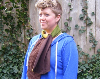 Eclectic, Whimsical Scarf from Upcycled Material, Unisex