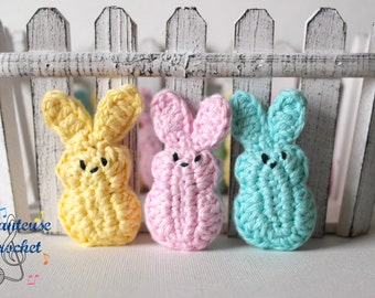 Amigurumi 'Marshmallow' Easter Bunny Peeps Set of 3