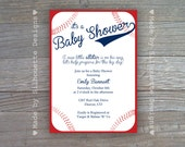 Baby Shower Birthday Party Invitation-Baseball-Digital Printable File OR Professionally Printed Cards