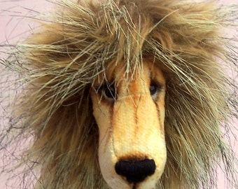 Charlie Lion soft toy sewing pattern to make lion or lioness