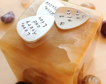 For Your Love - Personalized Guitar Pick -  Custom Guitar Pick - Personalized with Your Quote, Name - Music speaks to the soul