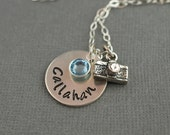 Photographer Camera Personalized Hand Stamped Sterling Silver Necklace