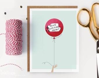 Scratch-off Birthday Card // Red Balloon