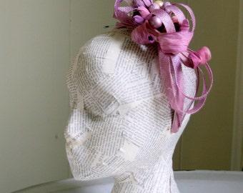 Lavender and Iris Fascinator Headband, Whimsy