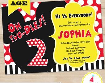 Mickey Mouse Birthday Invitation | Mickey Mouse Invitation | Mickey Mouse Clubhouse Printable | Mickey 1st Birthday | Amanda's Parties To Go