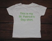 This is my St Patricks Day Shirt Clover Shamrock St Pattys Day Green T Shirt