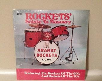 Ararat Rockets Rockets' Salute To Masonry Centennial LP Unopened NOS