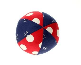 "Nautical Anchors Away - Small (4"") Cloth Ball"