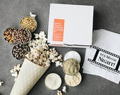 Popcorn kernel and popcorn seasoning kit - savory popcorn gift set - hostess gift idea, popcorn seasonings, gift assortment, movie night