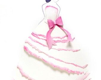 Pink Ruffles Print