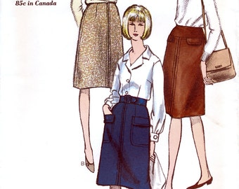 Vogue 6285 Vintage 60s Misses' Skirt Sewing Pattern - Uncut - Waist 26 - Hip 36