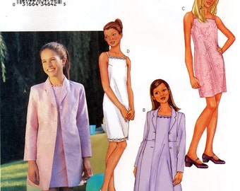 Butterick 3415 Girls' Dress and Jacket Sewing Pattern - Uncut - Size 12, 14, 16