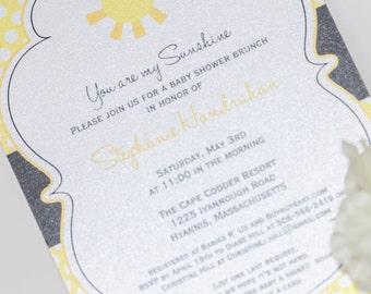Sunshine Patterned- Baby Shower Invitation