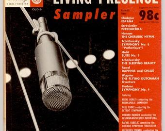 1955 Mercury Living Presence Classical Sampler OLD-6 Vintage Vinyl Record Album featuring Hanson, Fennell, Kubelik, Paray, Dorati