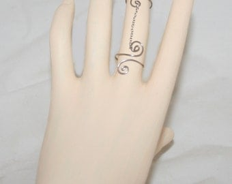 Slave Rings, Midi Rings, stacking ring, ring chain, Chain Linked Double Ring, Double fingers ring,