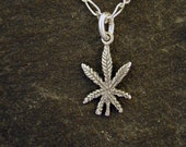 Special for Raedeersilver Sterling Silver Marijuana Pot Leaf Pendant  without Chain