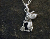 Special for Michelle Sterling Silver Snoopy Tennis Pendant without Chain