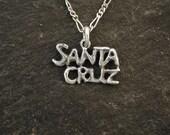 Sterling Silver Santa Cruz Pendant on Sterling Silver Chain.
