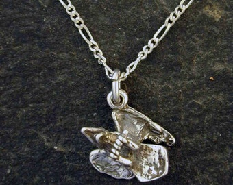 Sterling Silver Crow Pendant on a Sterling Silver Chain.