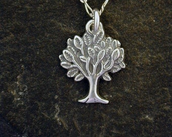 Sterling Silver Tree of Life Pendant on a Sterling Silver Chain