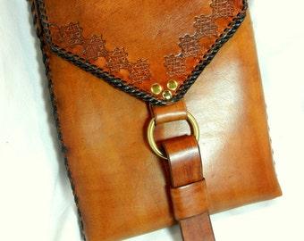 Leather Shoulder Bag for IPad, Books, Netbook, Travel