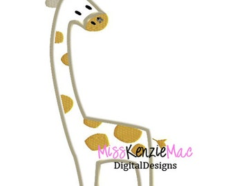 Baby Animal Giraffe Machine Applique Embroidery Design, Mulitple Sizes