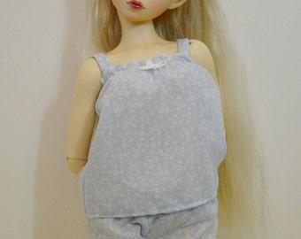 MNF/Minifee/Unoa/Slim MSD Girl Baby Blue Floral Jammie Set