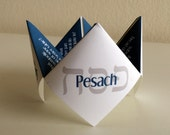 Passover Cootie Catcher, Passover, Pesach, Card, Decoration, Favor, Jewish Holiday, DIY, Printable, Invitation, Game, Passover Centerpiece