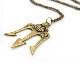 Poseidon's TRIDENT Pendant Necklace - Pirate - Fantasy - Once Upon a Time