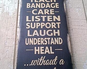 Nurses wooden sign by Dressingroom5