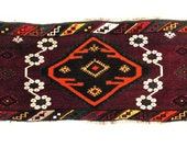 Vintage Rug - Persian Tribal Wool  Rug -Handmade Yoga Mats-Tapestry -Wall Art