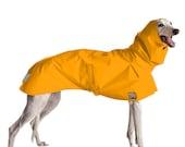 GREYHOUND Rain Coat, Dog Coat, Dog Raincoat, Rain Slicker