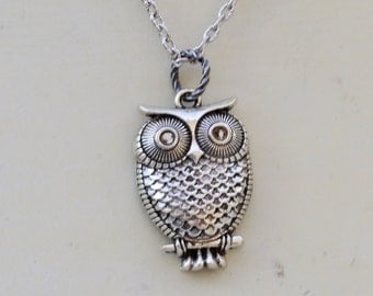 Owl Necklace Pendant Steampunk Jewelry Necklace,whimsical charm, everyday jewelry,