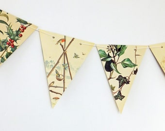 Christmas bunting, Festive Garland, Christmas decoration, Paper Bunting, Banner, Christmas wedding
